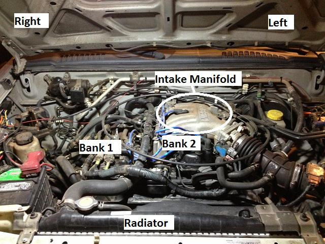 xterra 101 engine bay (pictorial) xterranation 2000 Nissan Xterra Distributor Diagram 2010 xterra engine diagram